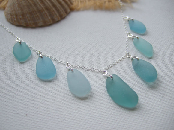 drop shaped sea glass pendants from japan