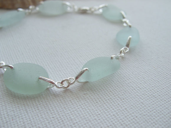 sea glass bracelet sterling silver