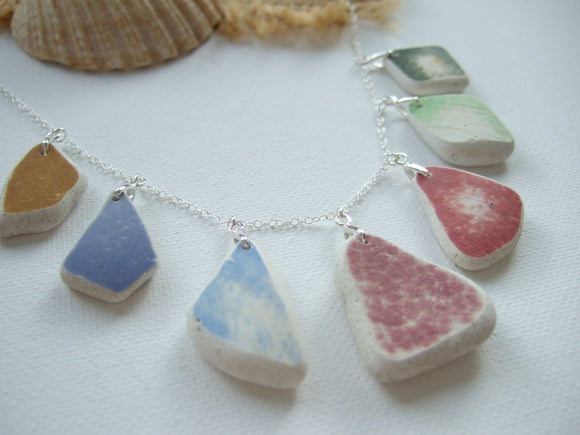 rainbow beach pottery necklace from scotland