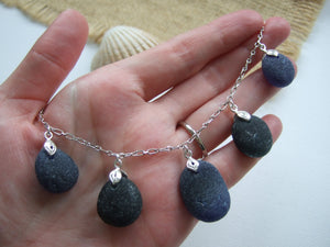 secret sea glass necklace blue and green