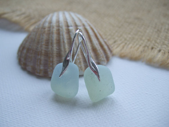 opalescent sea glass wave earrings