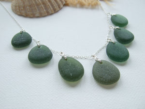 seaham sea glass green necklace