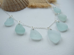 sea glass necklace multi pendants seaham
