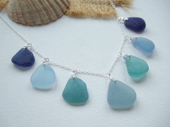 guernsey sea glass necklace blue sea foam