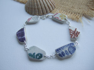 colorful sea pottery bracelet