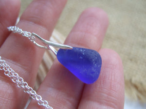 blue drop pendant sea glass from seaham