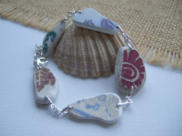 mixed pattern sea pottery bracelet