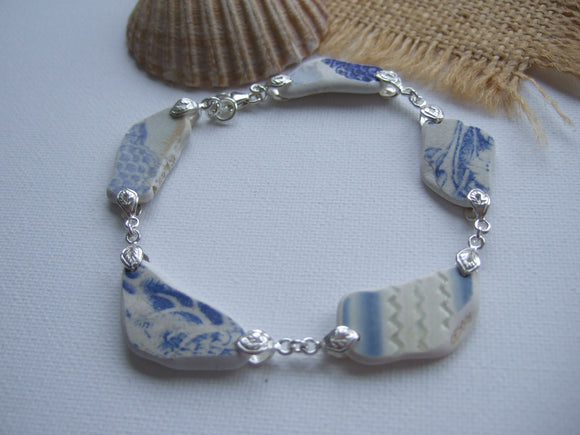 wave pattern beach potter bracelet