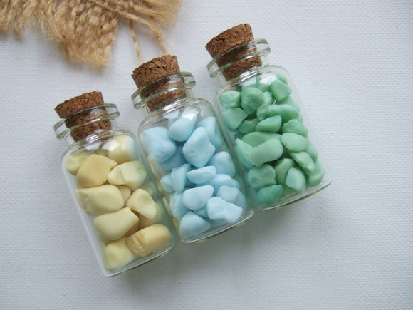 milk sea glass bottles