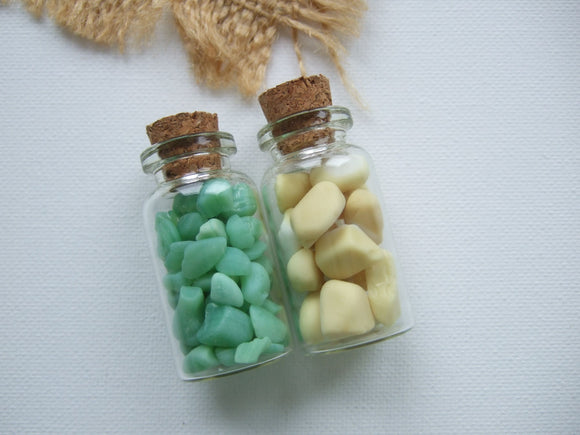 two bottles of milk sea glass from seaham