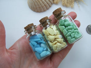 SPECIAL - Bottled Seaham Milk Sea Glass - Set of 3