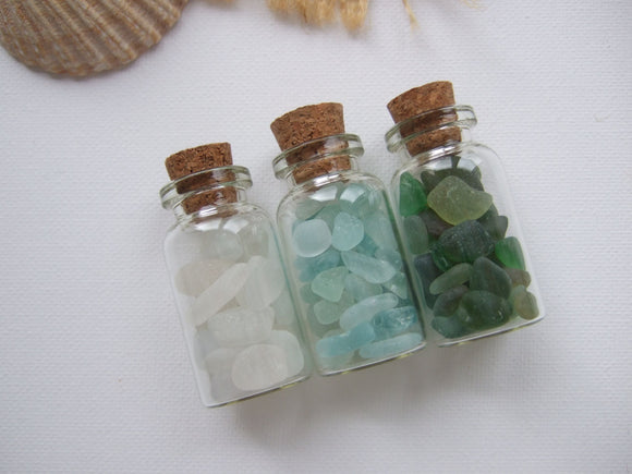 SPECIAL - Bottled Scottish Sea Glass - Set of 3