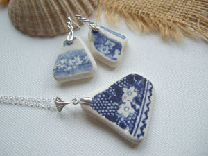 sea pottery jewellery set