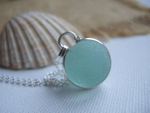 codd sea glass marble necklace