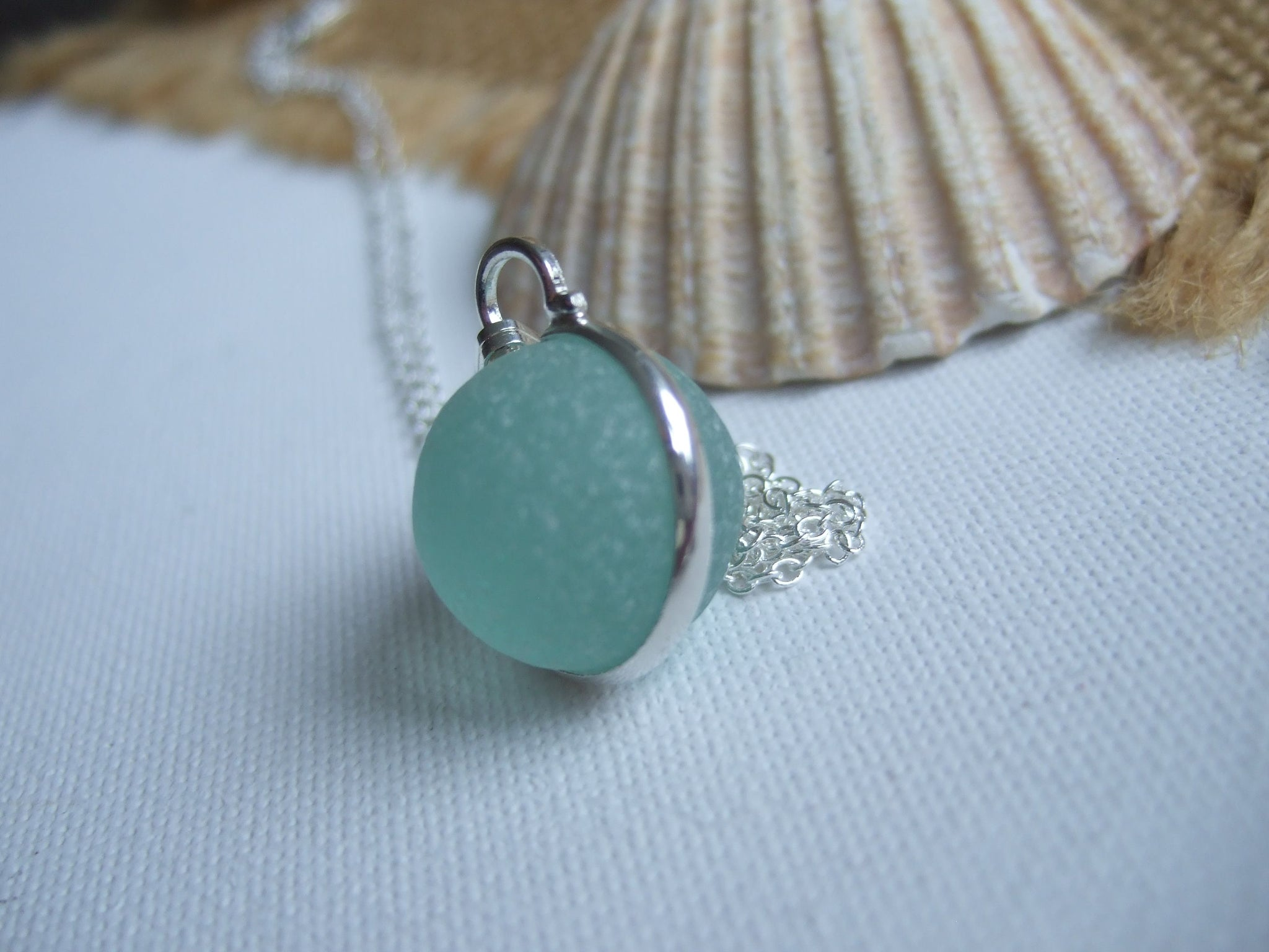 Pendants Handmade Products Sea Glass Codd Marble Necklace