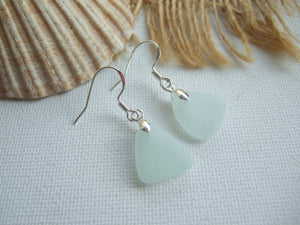 sea glass earrings sea foam