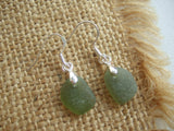 Tear Drops - Green sea glass