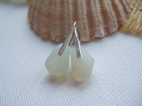 opalescent sea glass earrings