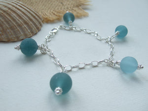 japanese sea glass marble bracelet