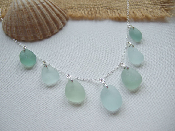 seaham sea foam sea glass necklace