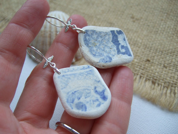 xxl sea pottery earrings