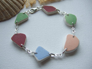 rainbow sea pottery bracelet