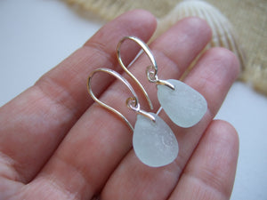 sea foam sea glass earrings swirl