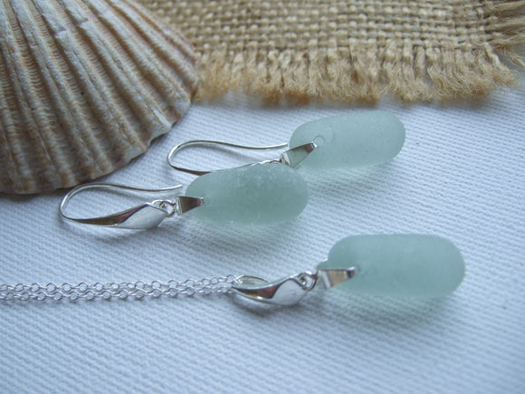 Sea Glass Stopper Stem Jewellery Set