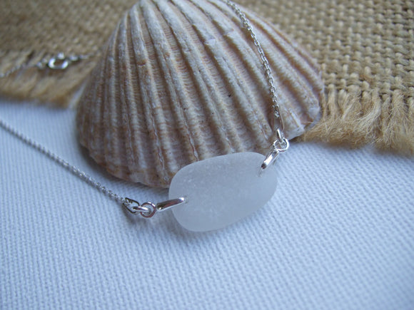 white sea glass bracelet 7