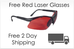 free laser glasses and 2 day shipping