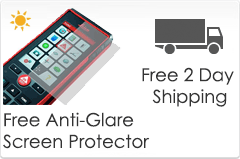 Free anti-glare screen protector and 2 day shipping on disto