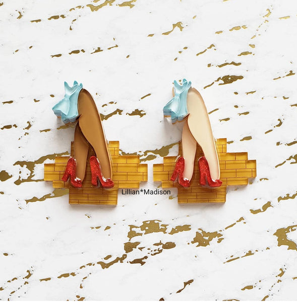 Yellow Brick Road Brooch