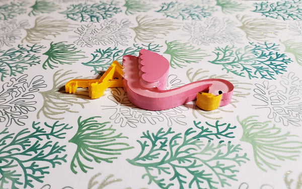 Fiona the Flamingo Brooch