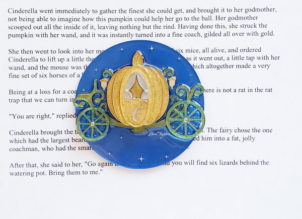 Pumpkin Carriage Brooch