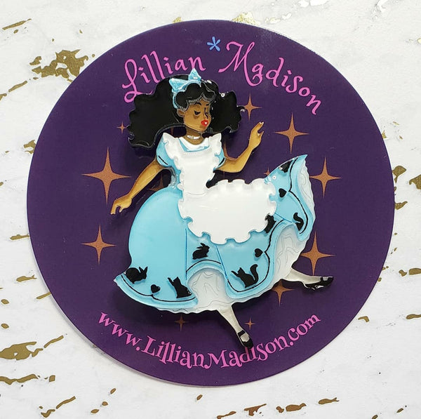 Falling Alice Brooch