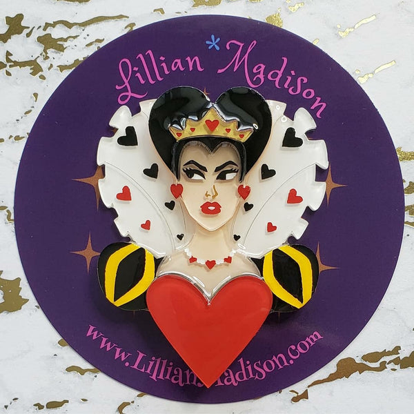 Queen of Hearts Portrait Brooch