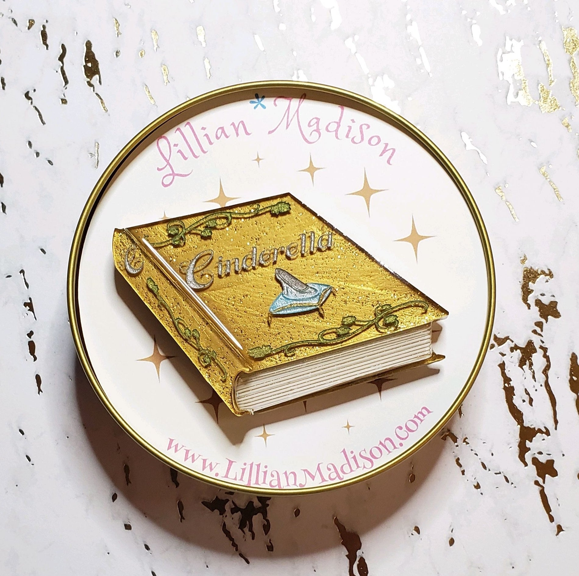 Cinderella Book Brooch