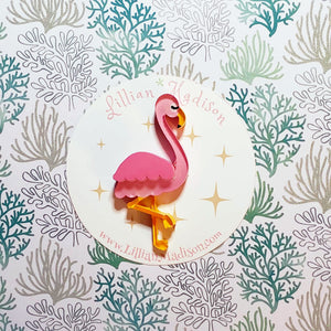 Pre Order - Fiona the Flamingo Brooch