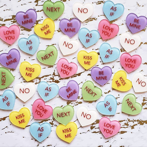 Conversation Hearts Brooches
