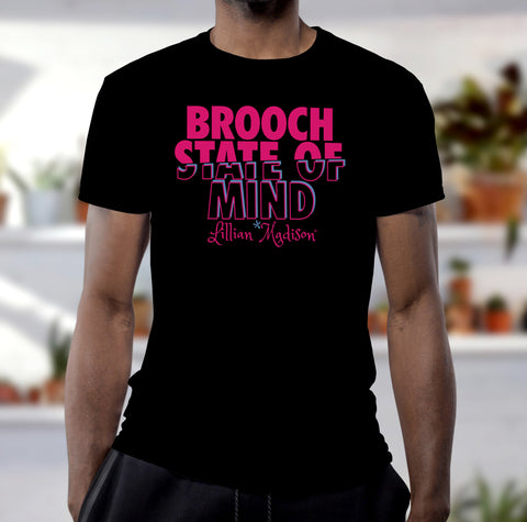 Men's Brooch State Of Mind Shirt in Black