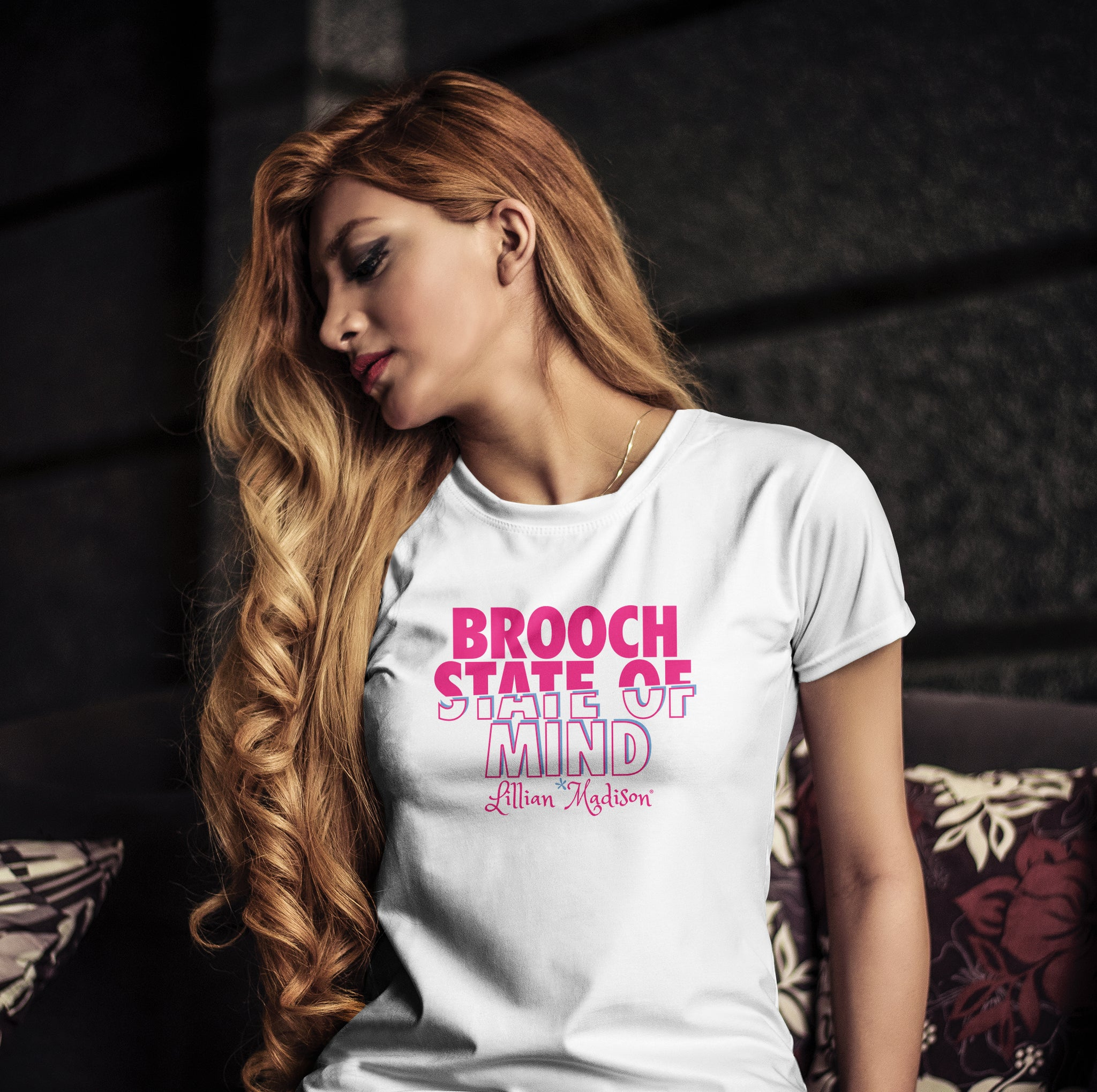 Brooch State Of Mind Shirt in White