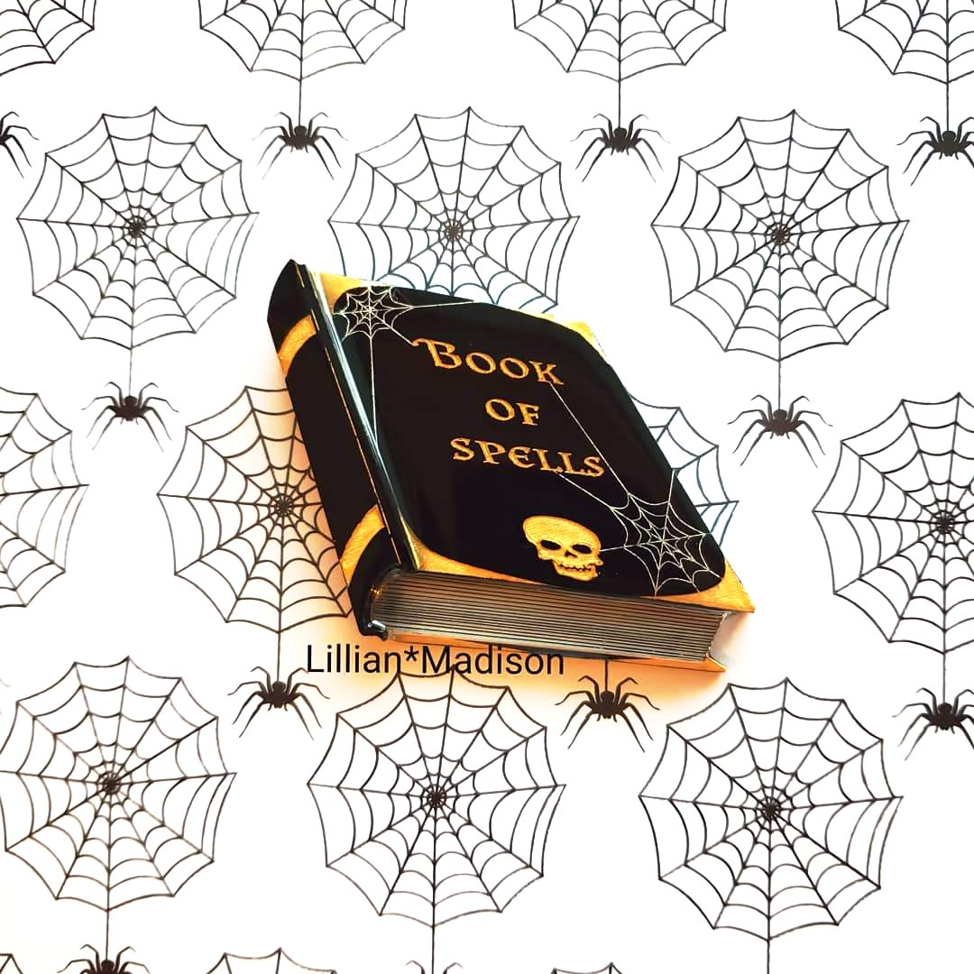 Book Of Spells Brooch
