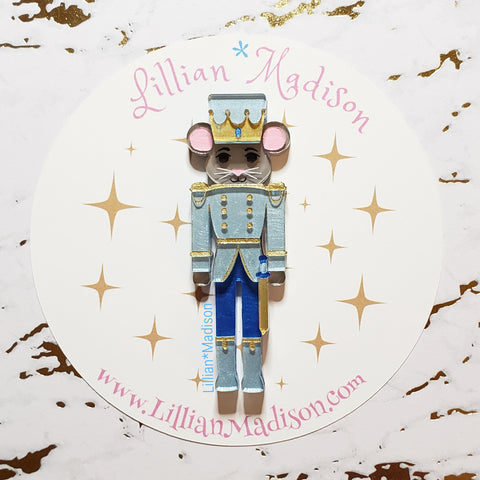 Nutcracker Mouse King Brooch