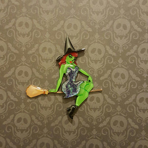 Pinup Witch Brooch