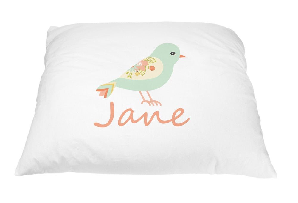 Turquoise Bird Pillow Case
