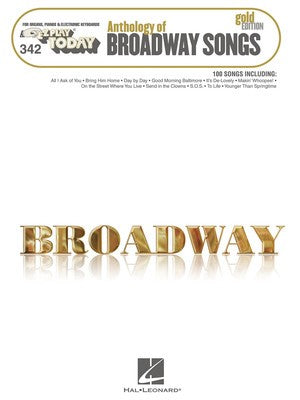 EZ PLAY 342 ANTHOLOGY OF BROADWAY SONGS GOLD EDI