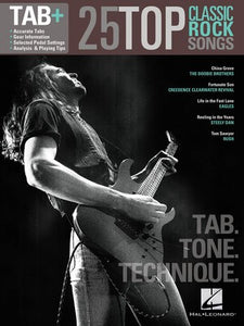 25 TOP CLASSIC ROCK SONGS GUITAR TAB PLUS