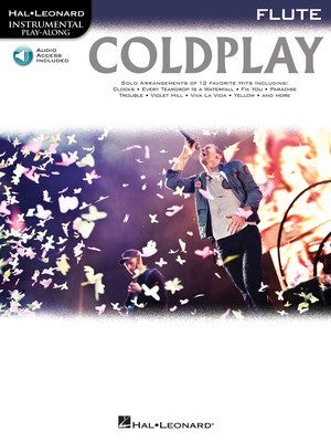COLDPLAY PLAYALONG FOR FLUTE BK/CD