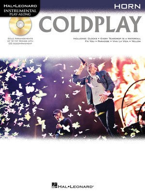 COLDPLAY PLAYALONG FOR HORN BK/CD