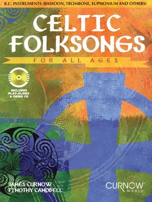 CELTIC FOLKSONGS FOR ALL AGES BASS CLEF INST BK/CD